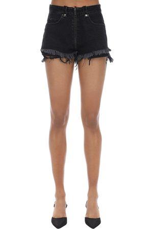 UNRAVEL Shorts In Denim Di Cotone Con Zip
