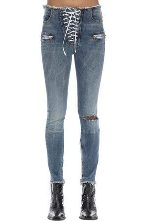 UNRAVEL Pantaloni Skinny In Denim Di Cotone