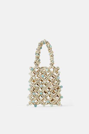 Zara Mini borsa a mano con conchiglie