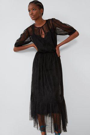 Zara Vestito plumetis