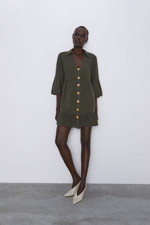 Zara Vestito con volant e bottoni