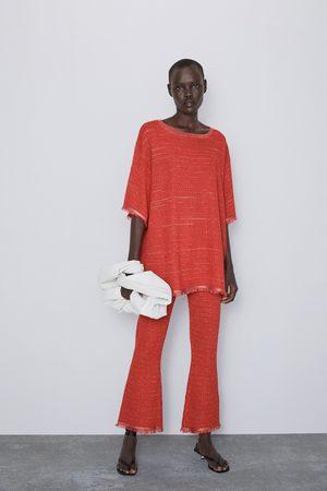 Zara Donna Pantaloni - Pantaloni struttura filo lamé