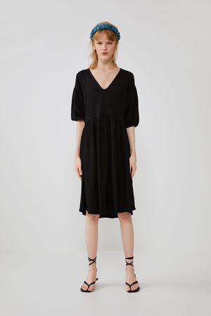 Zara Donna Vestiti - Vestito strutturato voluminoso