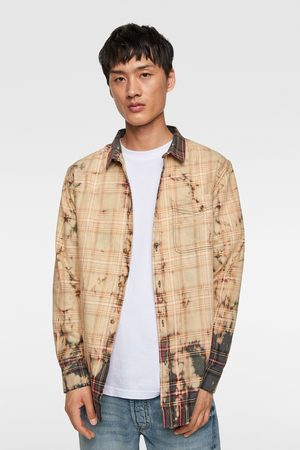 Zara Uomo Denim - Camicia a quadri tie dye