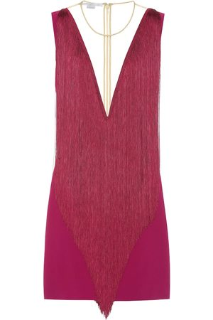 Stella McCartney Donna Vestiti - Miniabito in cady con frange