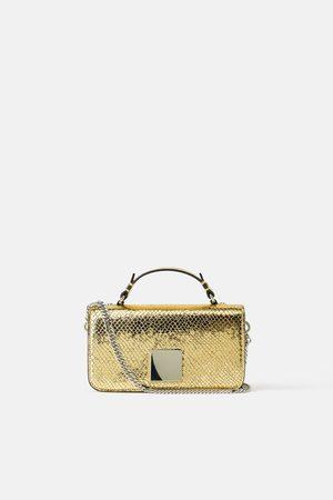 Zara Borsa city bag metallizzata con stampa animalier