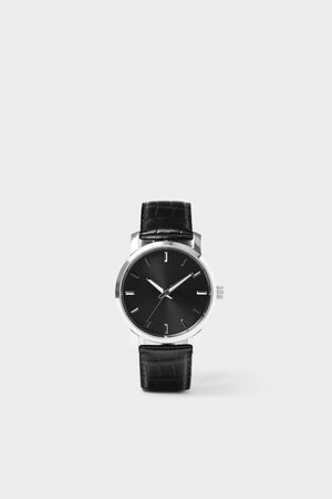 Zara Orologio minimal cinturino pelle nera