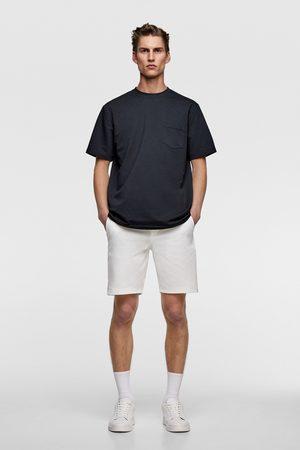 Zara Uomo Pantaloncini - Bermuda piqué contrasto