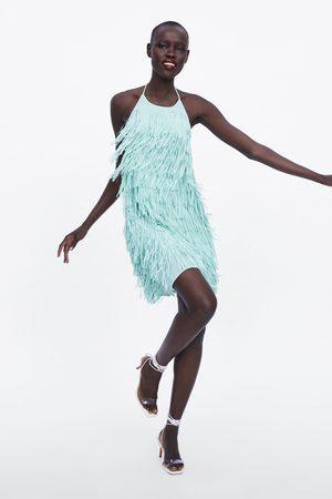 Zara Vestito corto con frange