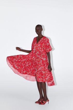 Zara Vestito midi con stampa floreale