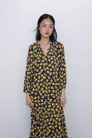 Zara Vestito lungo stampa floreale
