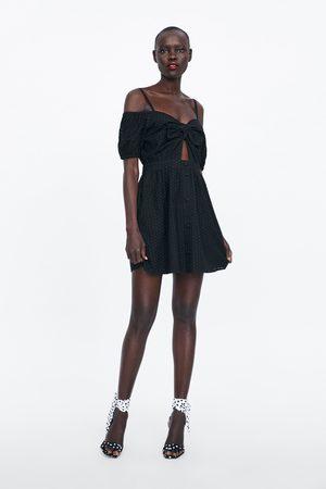 Zara Vestito con ricami traforati