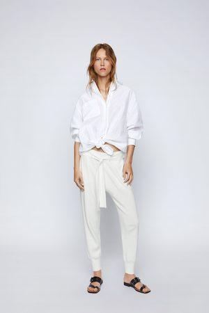 Zara Pantaloni jogger in maglia