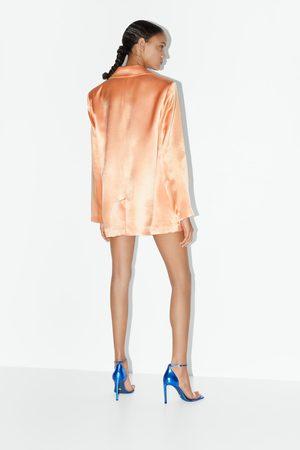 Zara Sandali in pelle con tacco blue collection