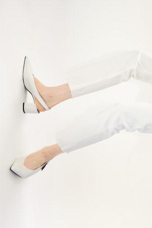 Zara Scarpe con tacco slingback e stampa animalier