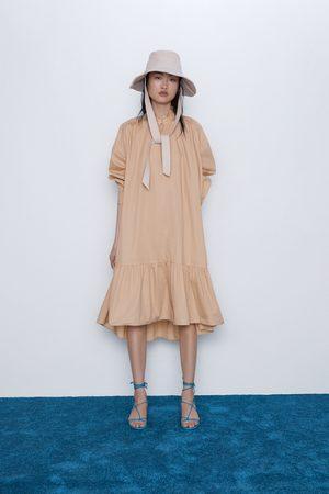 Zara Vestito in popeline con volant