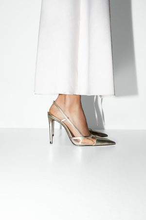 Zara Scarpa con tacco slingback in vinile