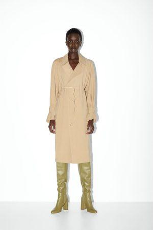 Zara Stivali con tacco in pelle gambale alto