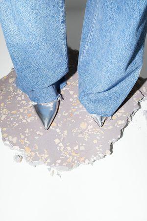 Zara Scarpe con tacco alto in pelle metallizzate