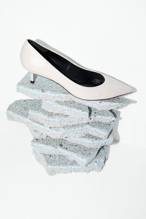 Zara Scarpa tacco medio pelle