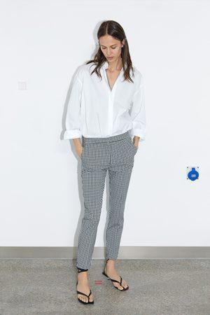 Zara Pantaloni jogger waist a quadretti