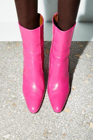 Zara Stivaletti con tacco in pelle gambale stretto