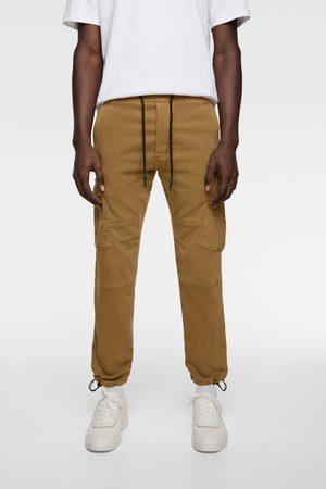 Zara Pantaloni cargo soft denim