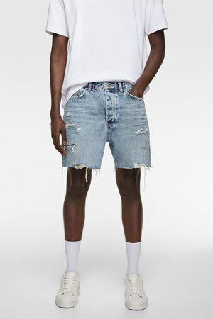 Zara Bermuda shorts denim strappi