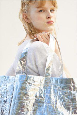 Zara Maxi borsa shopper metallizzata