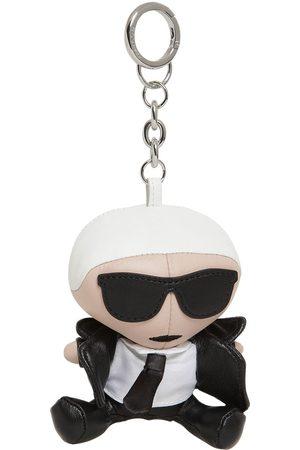 "Karl Lagerfeld Portachiavi ""iconic"" In Pelle"