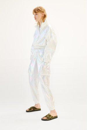 Zara Sandali bassi in pelle fibbia borchie
