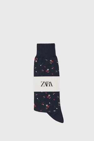 Zara Calzini cotone mercerizzato jacquard stampa floreale