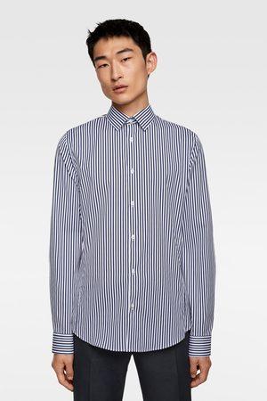 Zara Camicia elasticizzata a righe