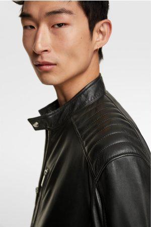 Zara Uomo Giacche di pelle - Giubbotto biker pelle