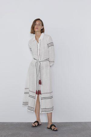 Zara Vestito chemisier con ricami