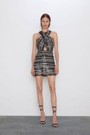 Zara Vestito paillettes incrociato
