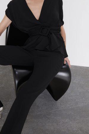 Zara Top incrociato cintura