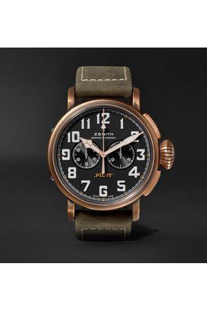 ZENITH Uomo Orologi - Pilot Type 20 Extra Special Automatic Chronograph 45mm Bronze and Nubuck Watch, Ref. No. 29.2430.4069/21.C800