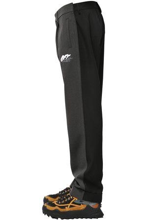 OFF-WHITE Pantaloni Chino In Misto Lana