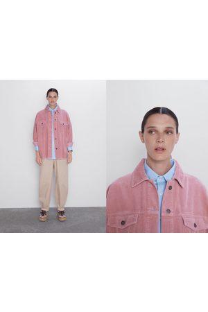 Zara Giacca-camicia in velluto a costine con tasche