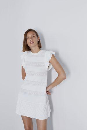 Zara Vestito pointelle con volant