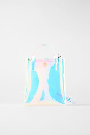 Zara Mini borsa shopper iridescente