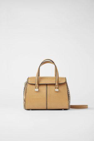 Zara Mini borsa shopper con stampa animalier