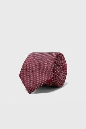 Zara Cravatta larga jacquard geometrico