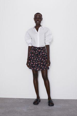 Zara Minigonna con stampa e volant