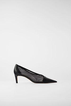 Zara Scarpe con tacco a punta in rete
