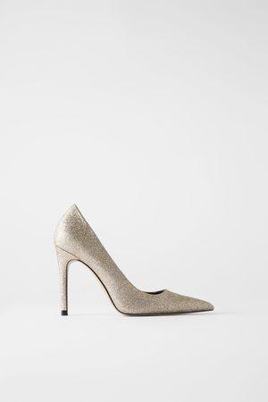 Zara Scarpe con tacco glitter