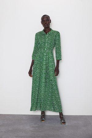 Zara Vestito lungo stampato