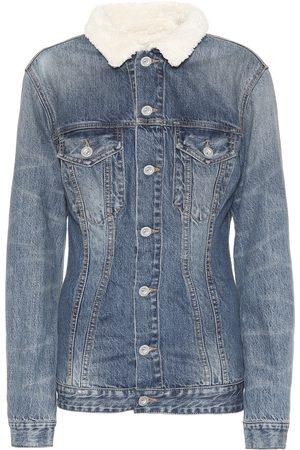 UNRAVEL Giacca di jeans con shearling sintetico