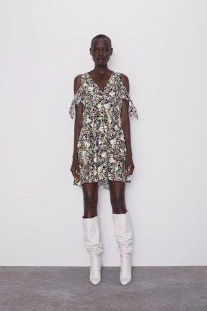 Zara Vestito stampato floreale con fiocchi